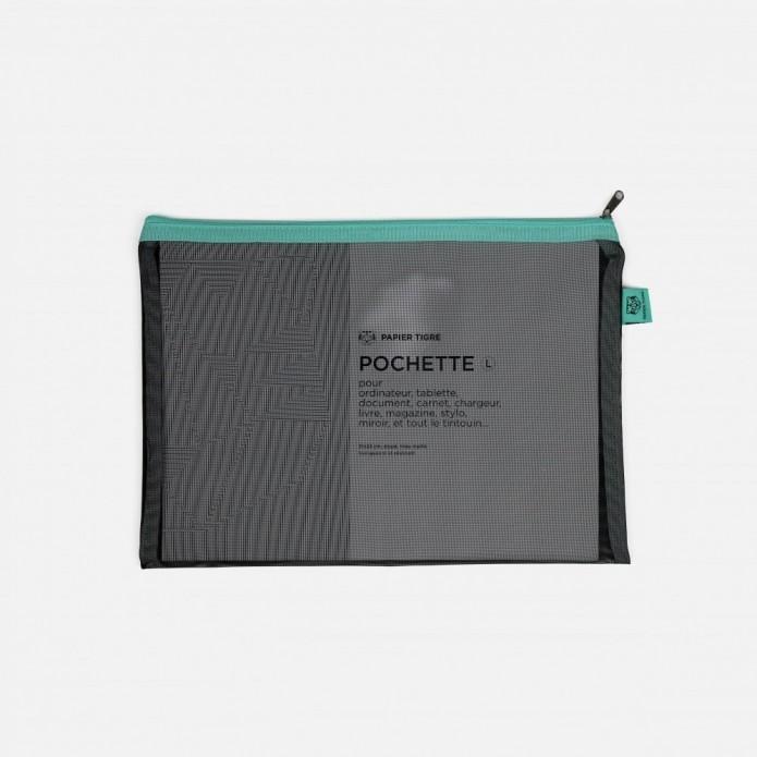Estuche Mesh Pocket L - Black