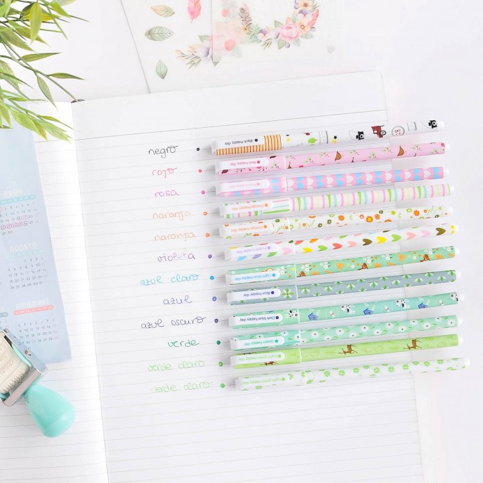 Bolígrafos de colores Happy Day Light
