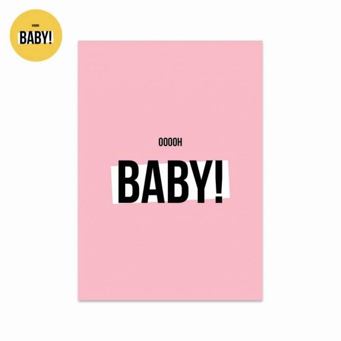 Postal Baby - rosa