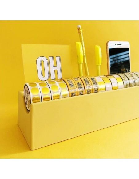 Organizador de escritorio Washi Yellow