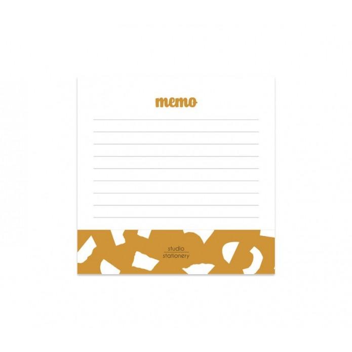 Bloc de notas Mini Memo Ocher Confetti