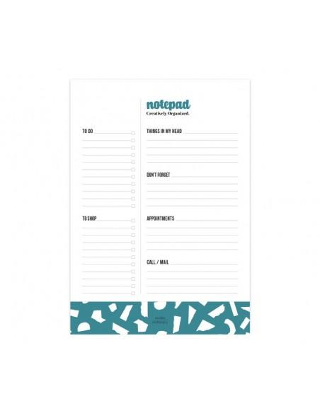 Notepad Creatively Organized Petrol