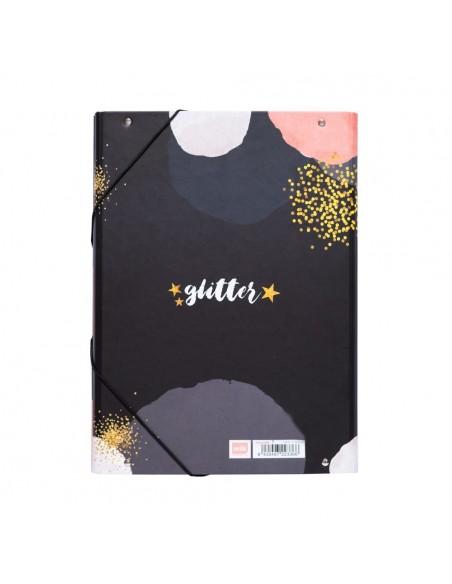 Carpeta de solapas Glitter Gold Dreams