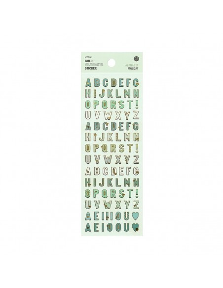 Pegatinas Gold Silhoutte Alphabet - Muscat